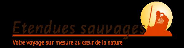 Logo Esauvages lettres marrons en longueur sur fond transparent