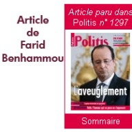 Article dans Politis de Farid Benhammou